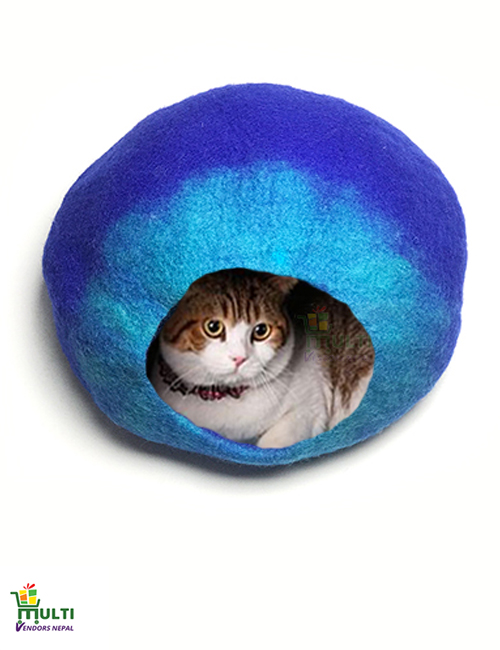 Magical Blue Cat Cave Bed