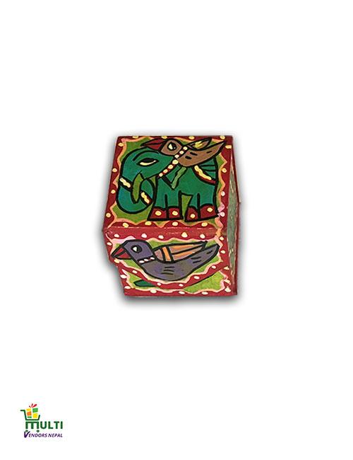 M.V.S-13-Mithila Art-Paper Square Gift Box