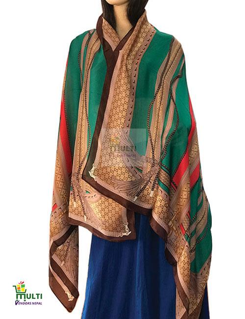 B 248 -Printed Silk Stole