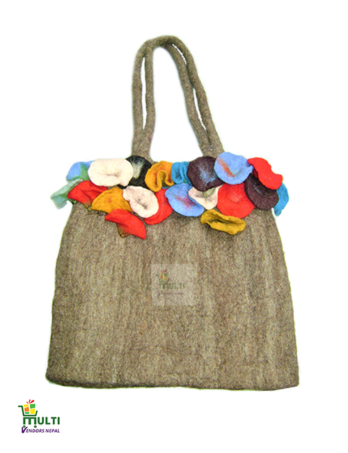 Natural Brown with Flowers -M.V.S.H-06