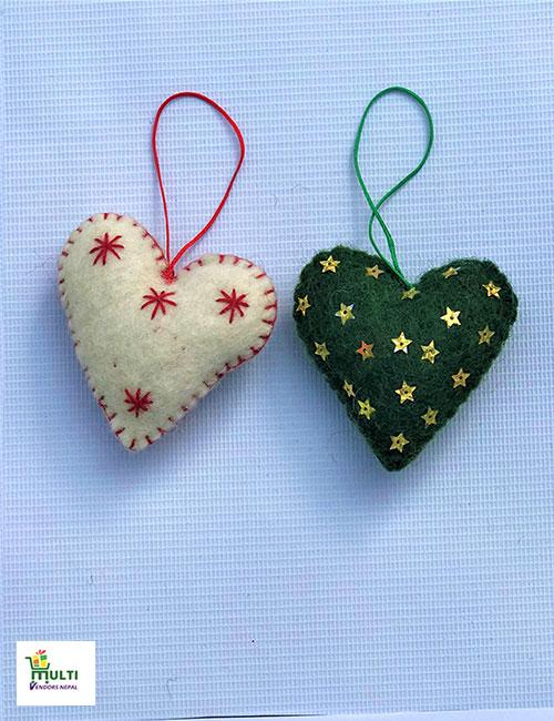Set of Heart Shape Hangings -M.V.K.S-132-S