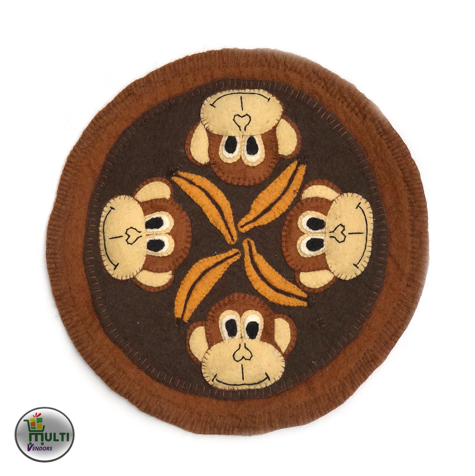 Monkey Design Felt Carpet  M.V.S.H-036