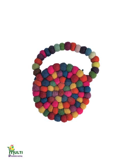 Colorful  Balls Clutch -M.V-K-139-S