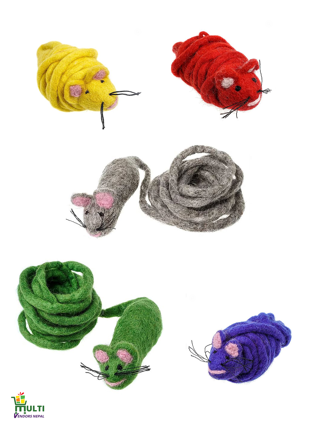 Set of Funny Long Tail Mouse -M.V.S.H-098
