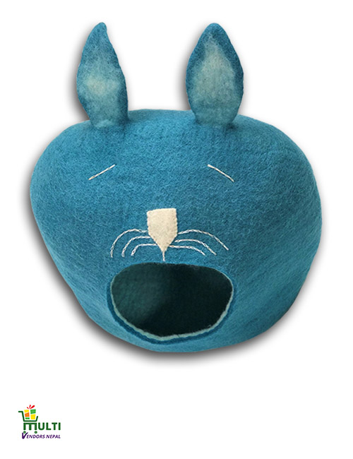 Blue Cat Face Design -193