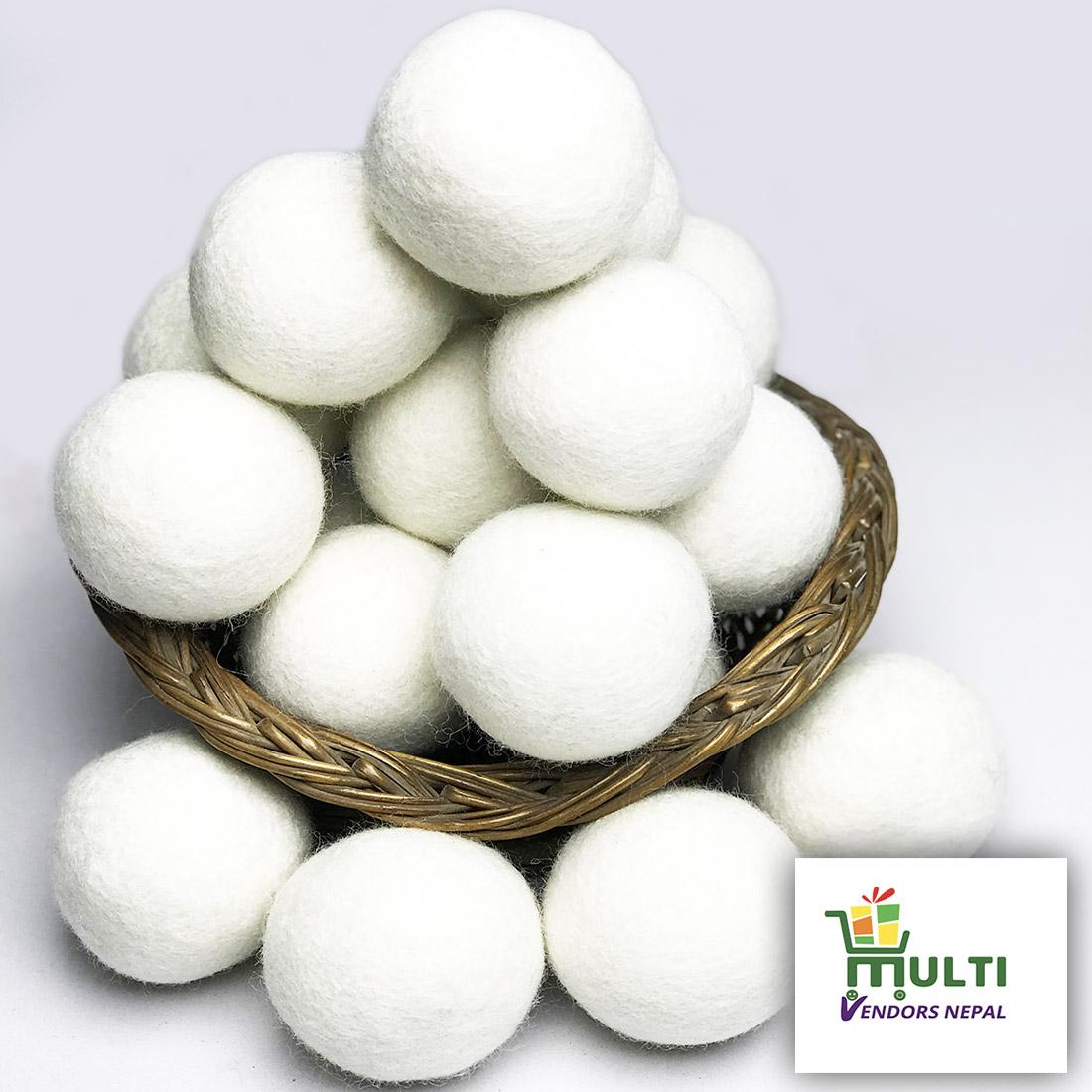Natural Wool Dryer Balls - Wholesale Bulk Box Pack of  200 Pcs