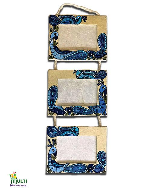 M.V.S-024-Mithila Art-Paper-Hanging Photo Frame Set