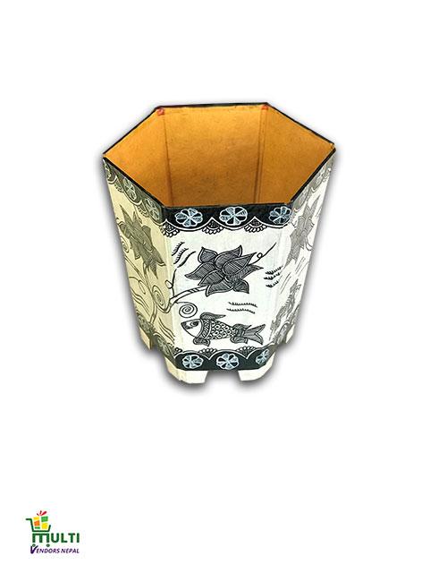 M.V.S-029-Mithila Art -Paper made  Foldable Flower Vase