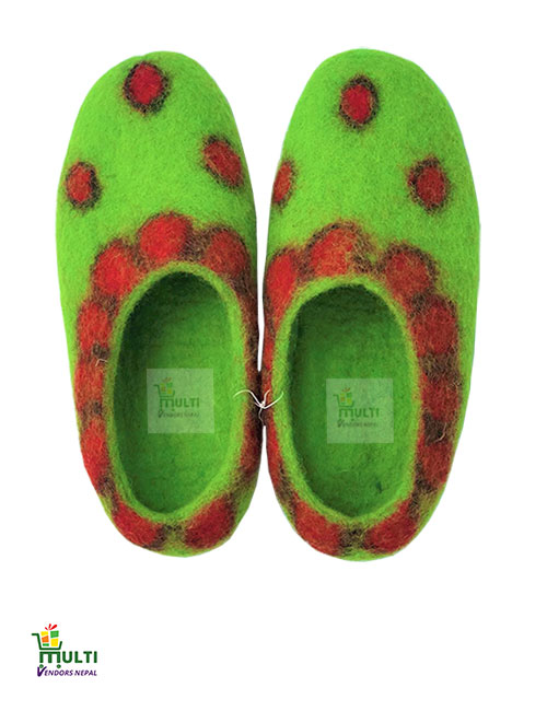 Parrot Green with Dots-M.V.K.S-164SP