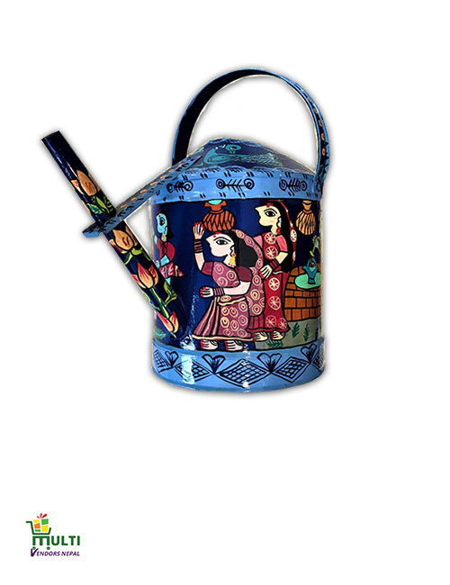 M.V.S-028-Mithila Art -Tin Made Flower Watering Can