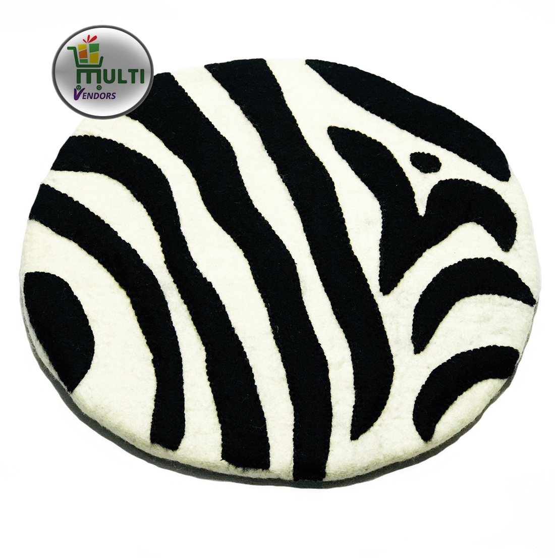 Zebra Pattern Round Carpet-M.V.S.H-E--038