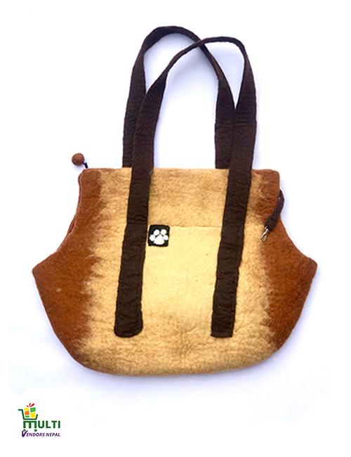 Dog Bag Golden Shaded Design -078