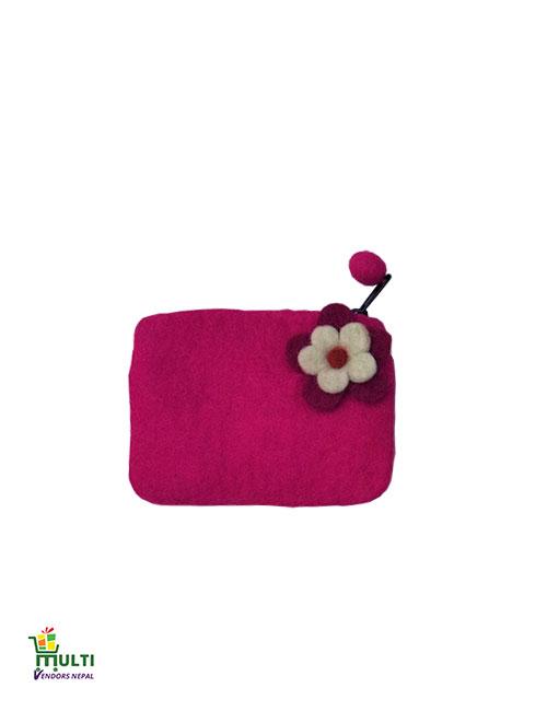 Clutch With Flower-M.V.K.S-183