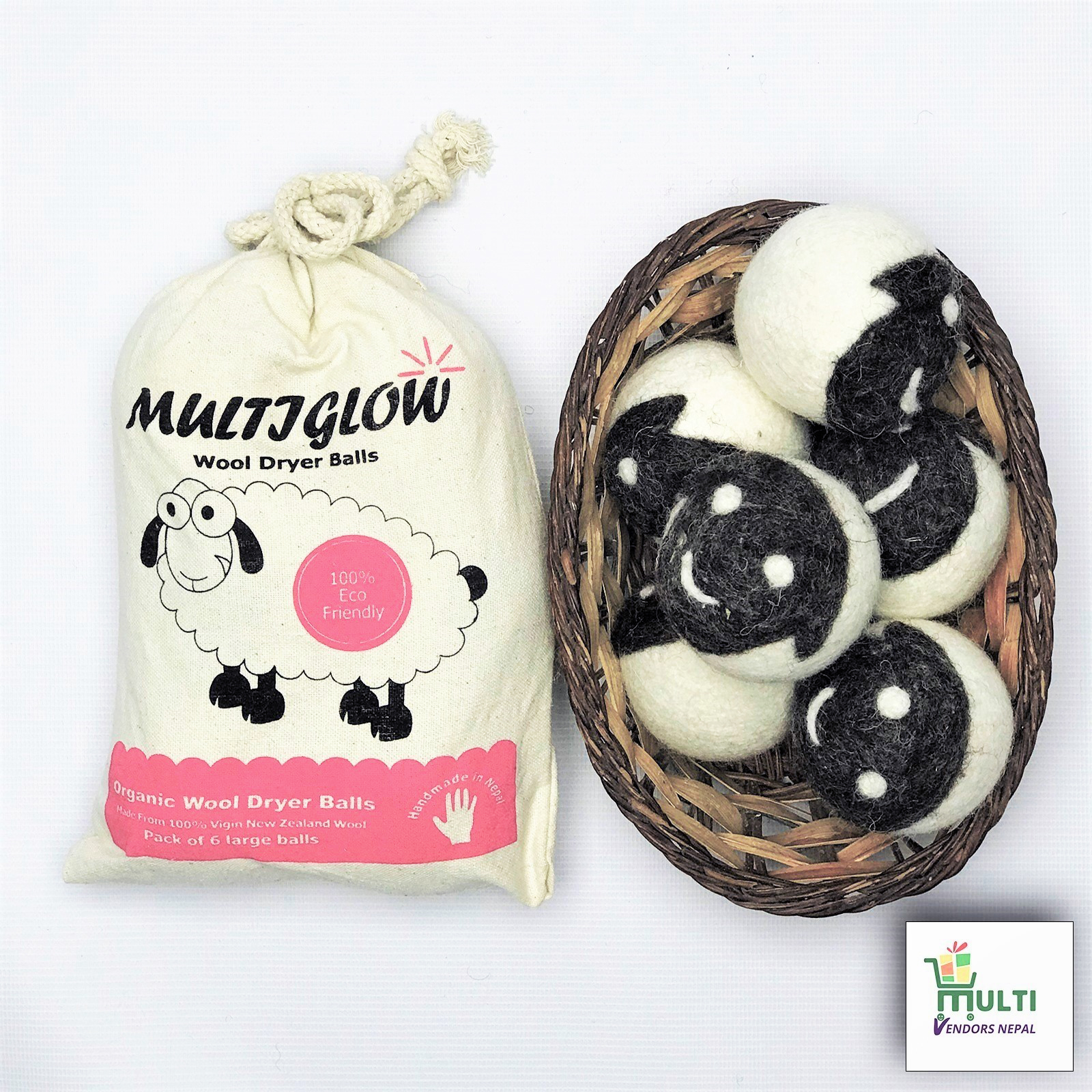 Multiglow Wool Dryer Balls- 1 Pack