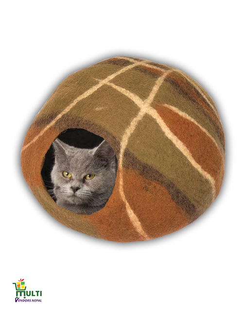 Mix Brown Pattern Cat Cave