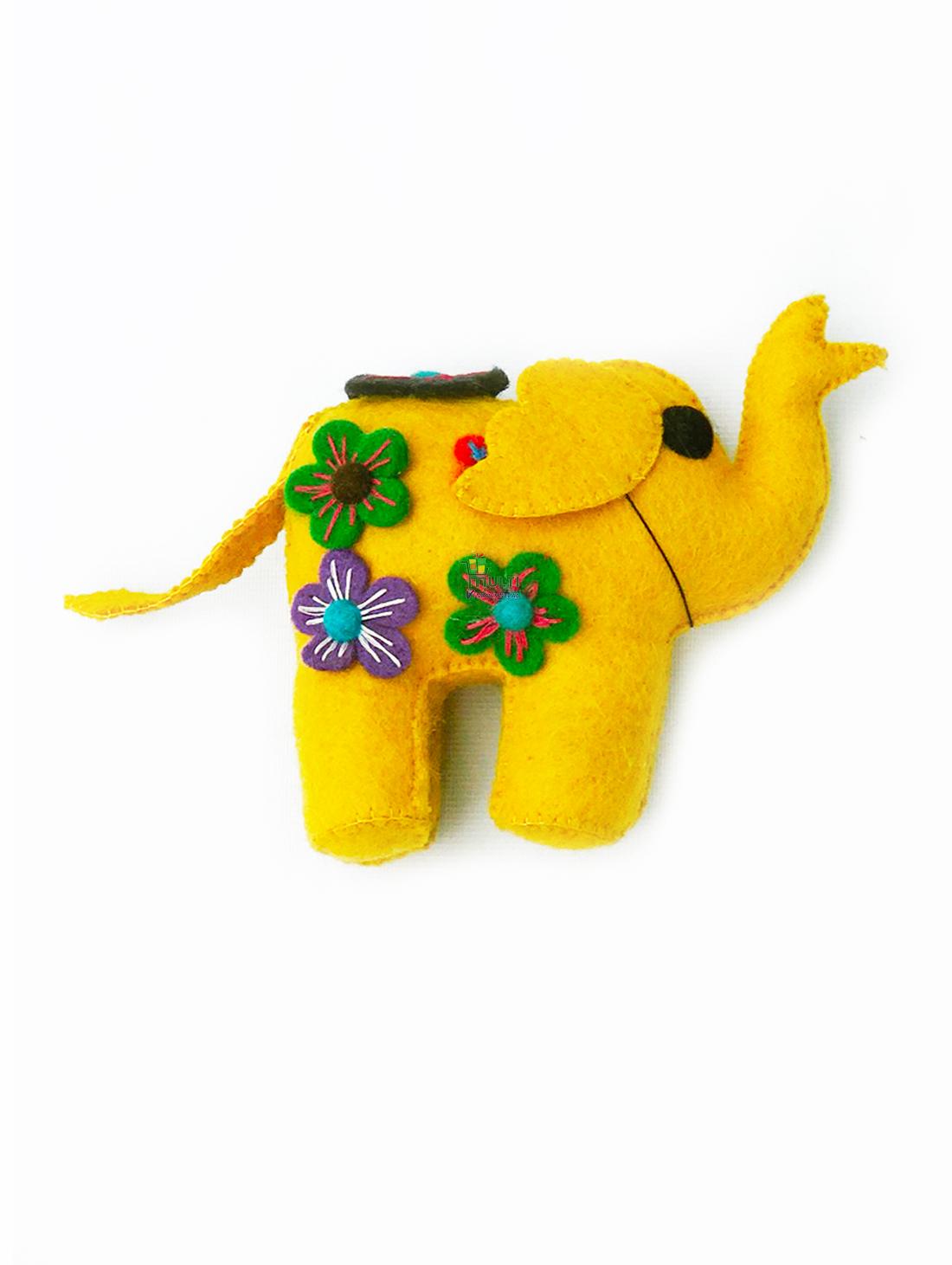 YELLOW ELEPHANT DECOR -MEDIUM- M.V.K.S.F-174