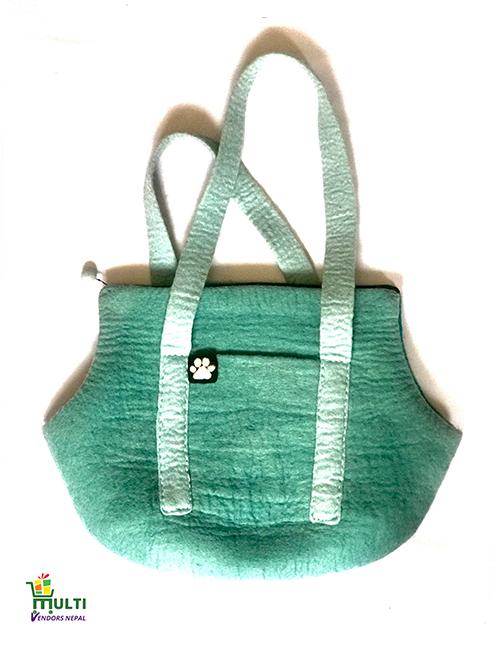 Dog Bag Caribbean Blue Design -079