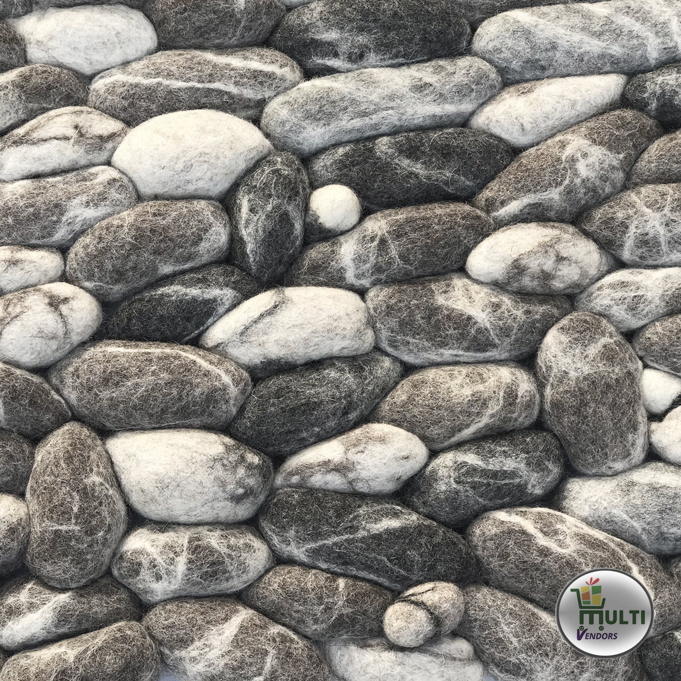 Rectangular Felt Pebble Rug -MVSEB-C 21512
