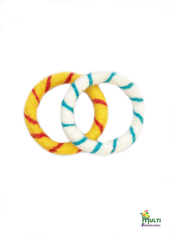 Set of Spiral Design Felt Rings - MVSEB-CTN-806